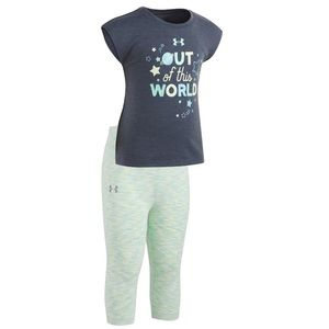 """UNDER ARMOUR """"OUT OF THIS WORLD"""" TEE & LEGGING SET"""